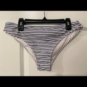 Navy/white striped swim bottom NWT